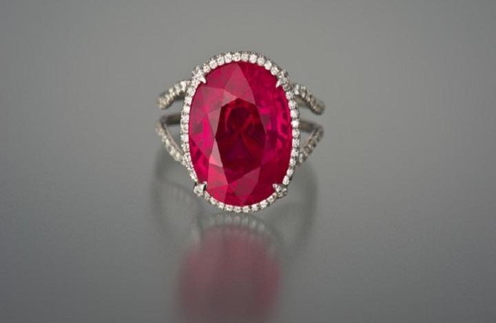 An Elegant Ruby Gemstone