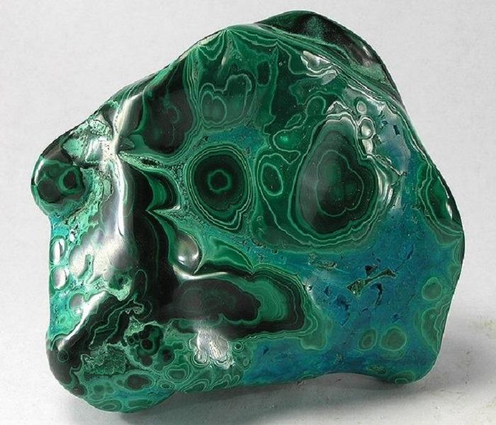Kidney stone - Malachite