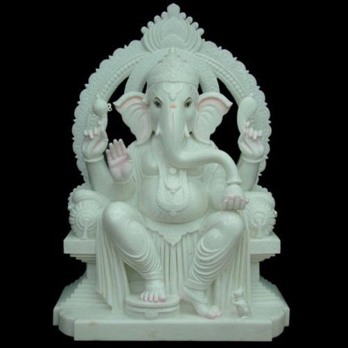 White Coral Ganesha